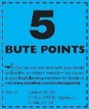 NEW 5 Bute Points Stickers to be collected